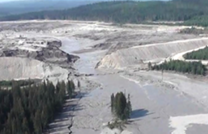 Tailings Dam Failure – Photo Courtesy of Cariboo  Regional District Emergency Operations Centre